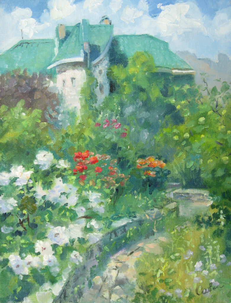 летний пейзаж с домиком