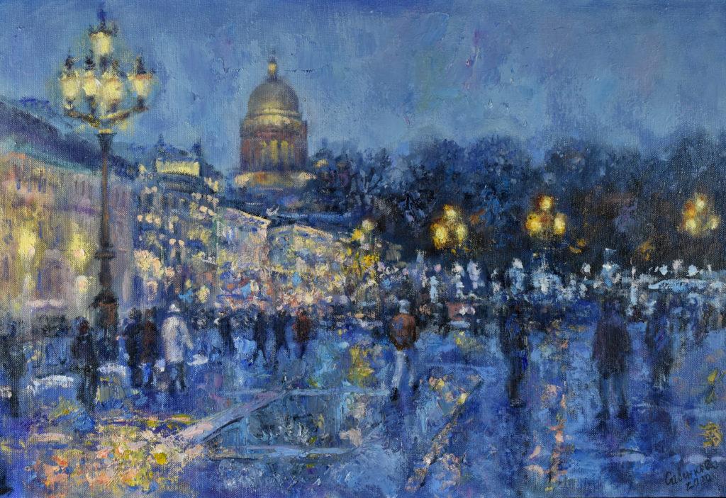 Ночной Петербург Дворцовая площадь