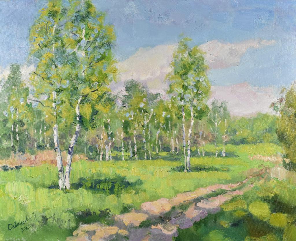 лето картина современного художника россии